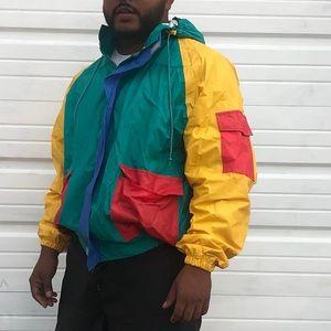 Vintage Multi Colored Rain Jacket